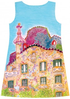Barcelona cityscape dress