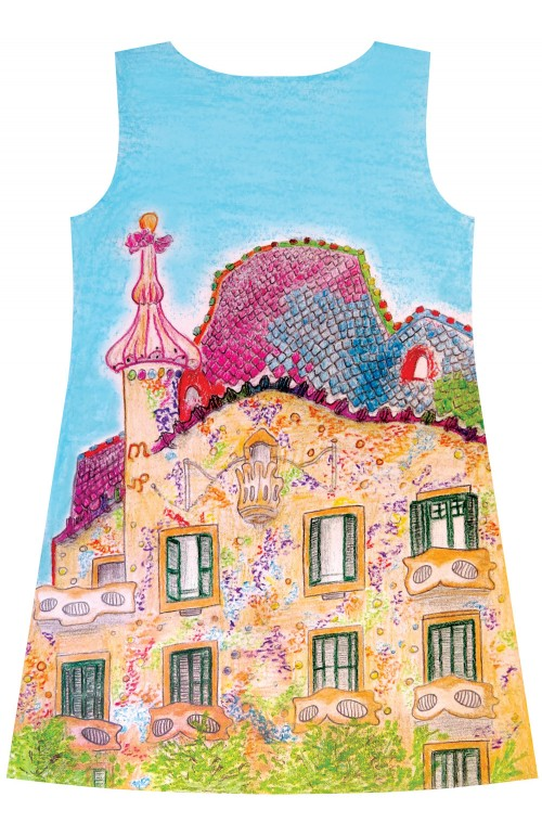 Barcelona cityscape dress