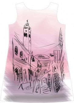 Sarajevo cityscape dress