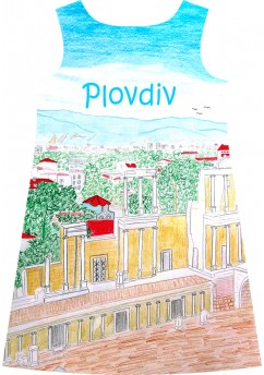 Plovdiv cityscape dress